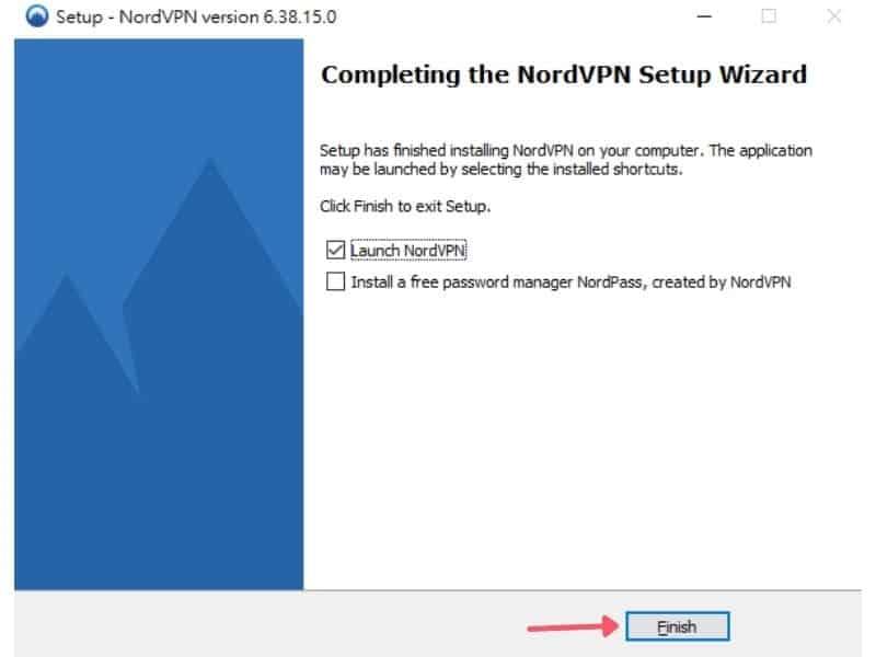 NordVPN Win10 安裝教學-安裝完成